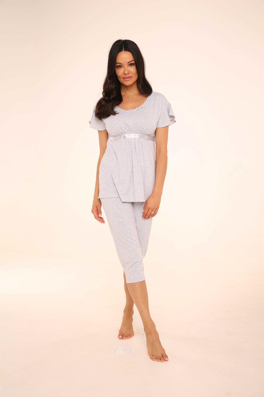 Piżama De Lafense 448 Julie S-2XL (1)
